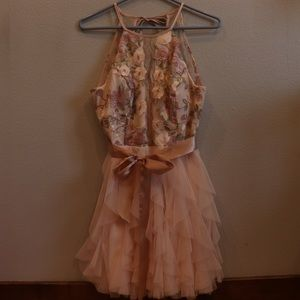 Floral homecoming/turnabout dress